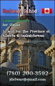 Delwar Jahid, S. · Commissioner of Oath in & for the Province of Alberta and Saskachewan